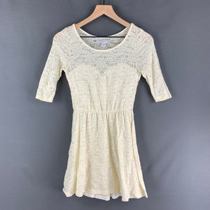 Cotton On Cream Lace Mini Dress Sz Small